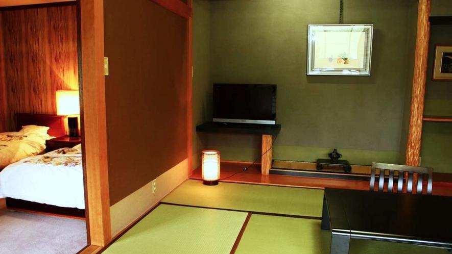 【離れ特別室】有明:和室8畳/ツインベッドルーム 【定員】2~5名