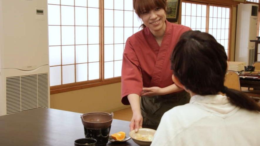 【朝食】お客様毎にご用意する和食膳