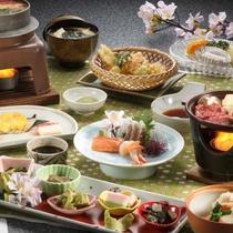 【阿賀会席料理】29年春のお料理一例