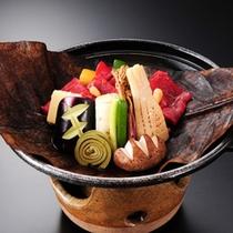 【料理】季節の料理例・朴葉焼き