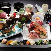 系列レストラン「山の茶屋」での炭火焼夕食プランもございます。