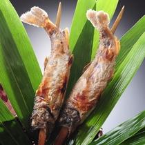 ★秋の夕食(一例)【塩焼き】活魚をそのまま使用、川魚塩焼き