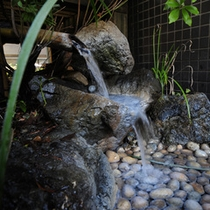 名栗の柔らかなお湯をご堪能下さい。泉質/低張性アルカリ性冷鉱泉。