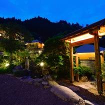 【故郷への誘い】大松閣の夜は、せせらぎの音と共に名栗の自然の中ならではの非日常的な静寂に包まれます。