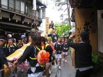 渋温泉御柱祭2010 木遣り衆