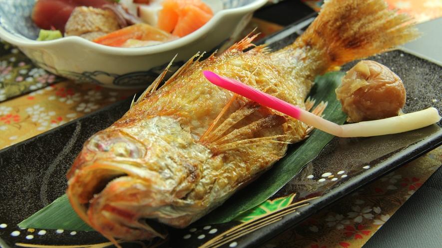 《華の膳~hana~ 一例》高級魚!のど黒の塩焼き付き