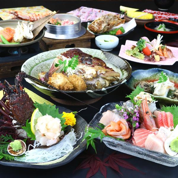 夕食◆チョイスコース(伊勢エビのお造り)