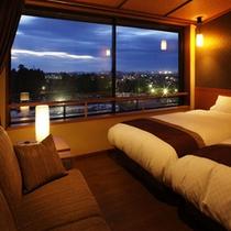 「峰の界」客室イメージ(夜景)