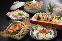 蟹旬海席料理一例