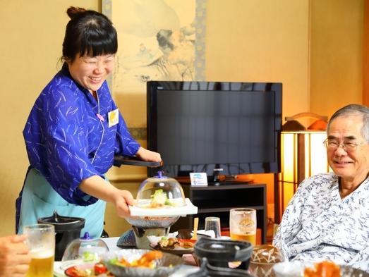【平日限定】【ひとり旅応援プラン】旬の和会席料理で朝夕お部屋食♪