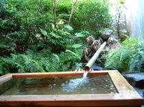人気の家族露天風呂です。