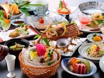 夏の和会席料理一例