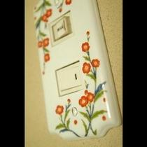 客室の電気スイッチ