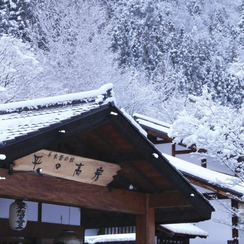【外観】冬の玄関