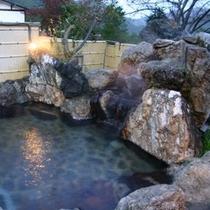 【露天風呂】藤の花房 (夕暮れ)