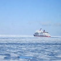 流氷の上のオーロラ号