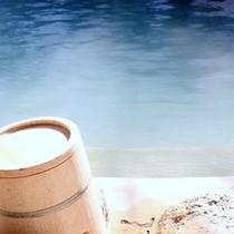白骨の湯は空気に触れることによって乳白色に変化します
