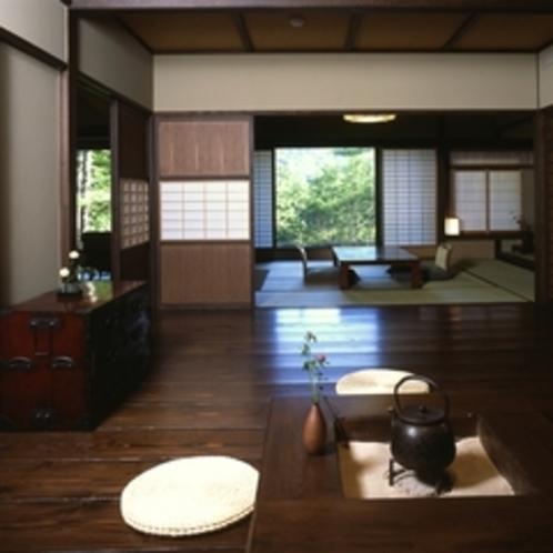 【介山荘:半露天風呂付き特別室】総面積107㎡!和の趣あふれる当館で4部屋のみの特別室