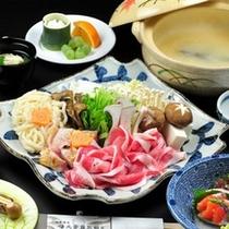 2012冬のほっこりお鍋「信州ハーブ鶏と安曇野産豚の味噌仕立て鍋」