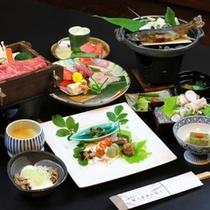 信州の素材にこだわった和風会席料理(ご夕食一例)