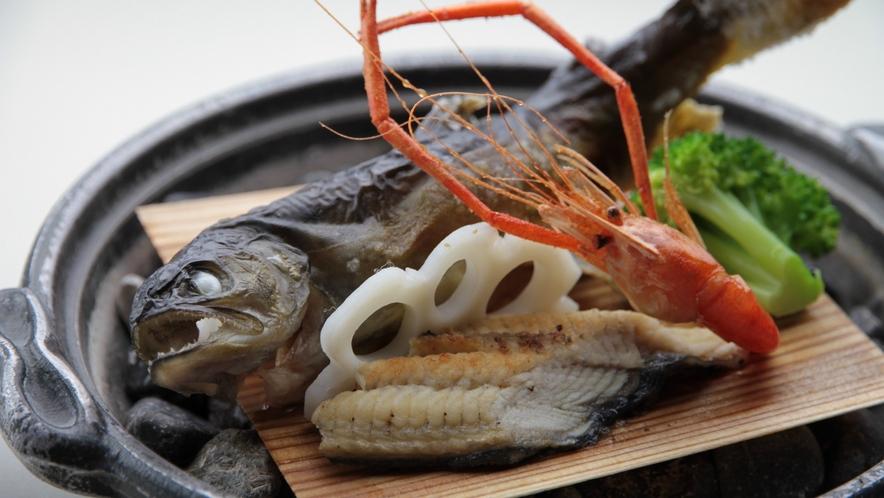 しなの旬菜料理 岩魚塩焼き源泉蒸し イメージ