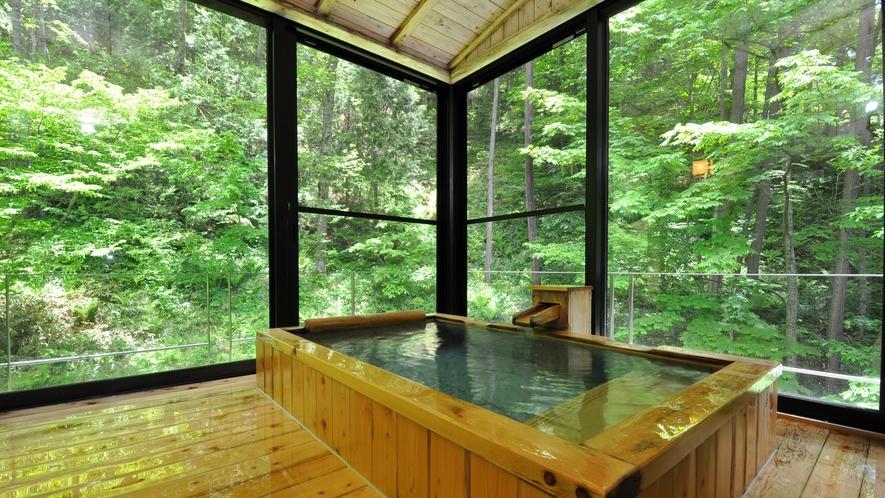 介山荘特別室 半露天風呂