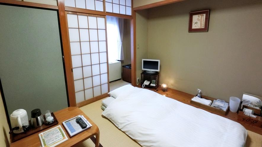 【本館】シンプル和室 風呂/トイレ共になし 衛生に配慮したデュベスタイル採用 Wi-Fi