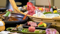 季節の会席料理「舟盛付」