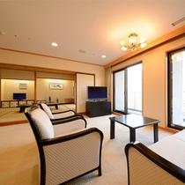 特別室~瑞光~応接間・石造りのお風呂付きの贅沢空間です。