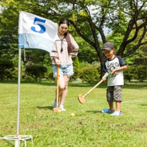 <グランドゴルフ>今日も天気がいいねー!!グランドゴルフしよっか!!