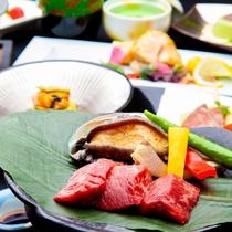 【50周年記念】和牛・活鮑・季節の釜飯のグルメプラン