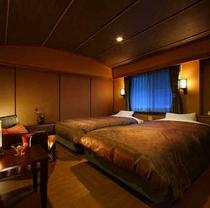 【プレミアム木涌館】H24年秋リニューアル。1階部分は和室、2階部分はツインベッドルーム。