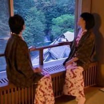 【プレミアム木涌館】清流の見える檜風呂付き客室