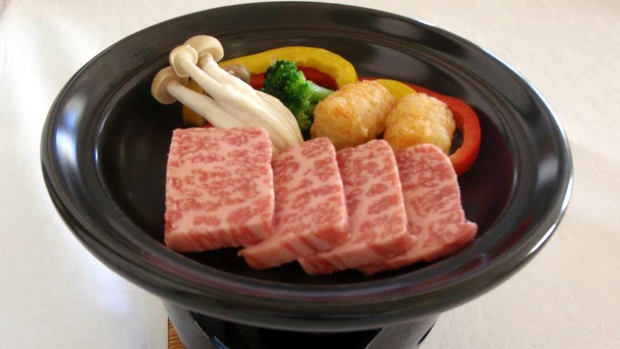 *夕食一例/倉石牛陶板焼き