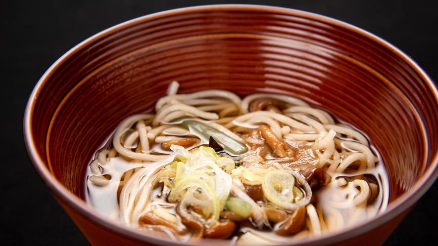 *夕食一例/きのこ蕎麦