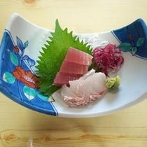*お食事一例/新鮮なお刺身をご用意いたします。