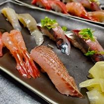 握り鮨 マグロ/キジエビ/鯛/ヒラメ/ヒラメエンガワ/アジ