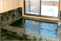 ▲超軟水使用の岩風呂(貸切風呂)