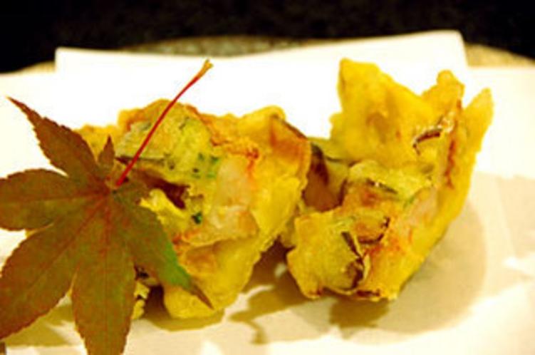 ふるさと料理2010秋(海老と野菜のかき揚げ)