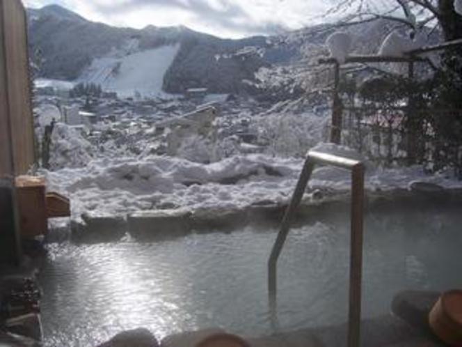 冬の展望露天風呂
