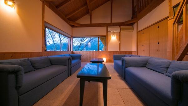 離れ内湯露天付客室「夢舎」138平米 眼前に由布岳を望む