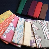 女性には「竹久夢二」などデザイン浴衣1枚無料貸出!