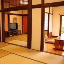 和室22畳 - 10畳+6畳+6畳の3間に仕切れる優雅さと広さが魅力の特別なお部屋です