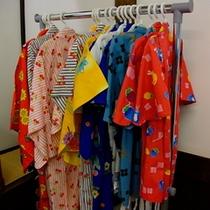 お子様浴衣のサービス(小学生・幼児寝具ありのお子様に限ります)