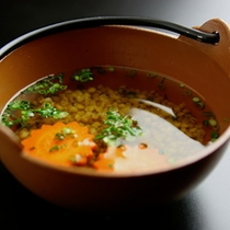 心と身体にやさしい和朝食 蕎麦の実雑炊