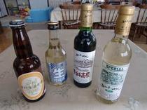飲み物(地酒、地ワイン、地ビール)