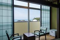 客室から日本海を望む