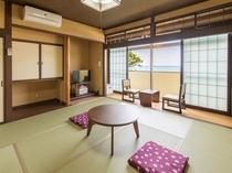 日本海と越前松島を望む昭和レトロ風客室 渡島(日本海を望む)