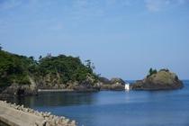 国定公園の越前松島<宿から歩いて5分>の散歩コース
