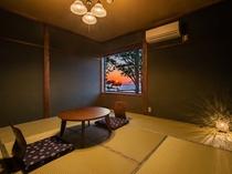 大正ロマンの雰囲気が漂う客室 緑風<日本海を望む>
